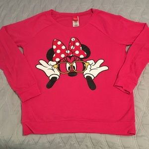 Pink Minnie Mouse Graphic Sweatshirt Juniors M 7/9